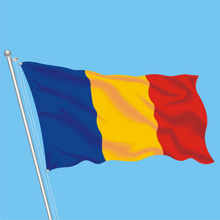 Developing flag of Chad