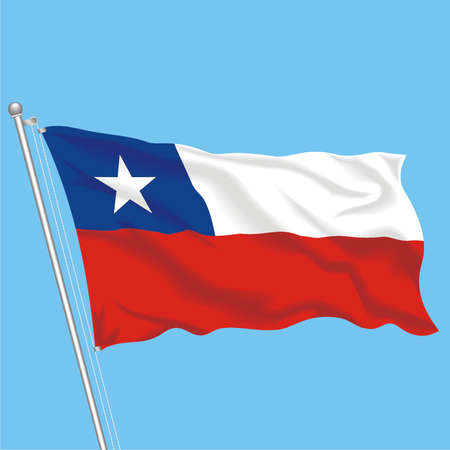 Developing flag of Chile Illustration