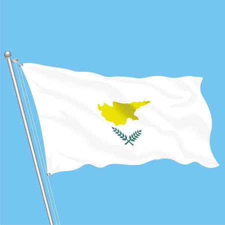 Developing flag of Cyprus Illustration