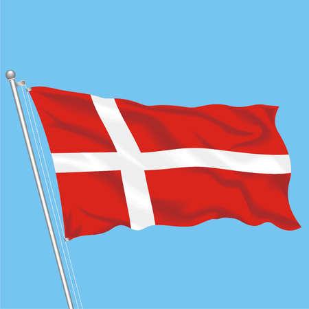 Developing flag of Denmark Illustration