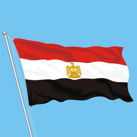 Developing flag of Egypt Stock Vector - 79581548