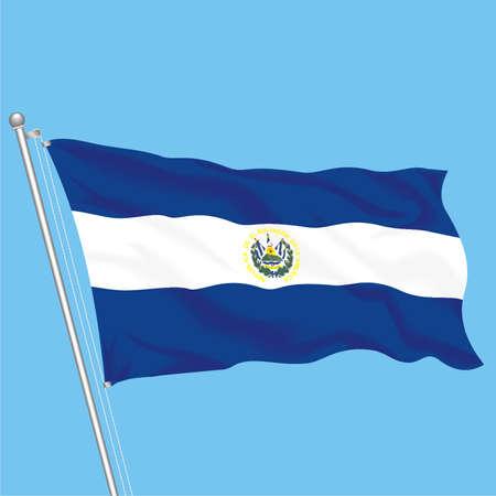 Developing flag of ElSalvado Stock Vector - 79581547