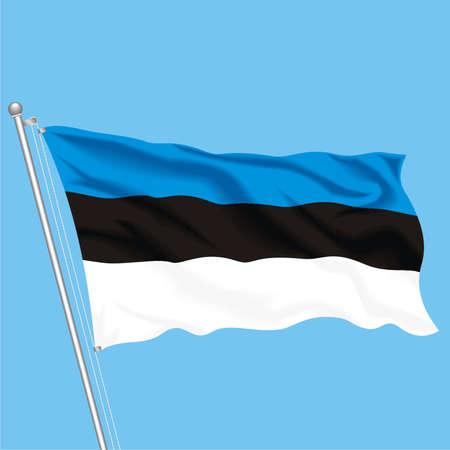 Developing flag of Estonia