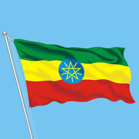 Developing flag of Ethiopia Illustration