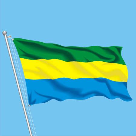 Developing flag of Gabon