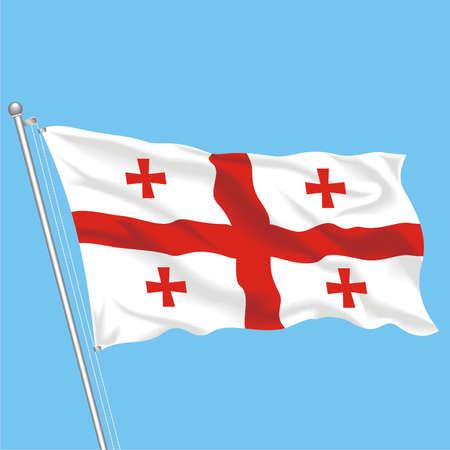 Developing flag of Georgia Stock Vector - 79581727