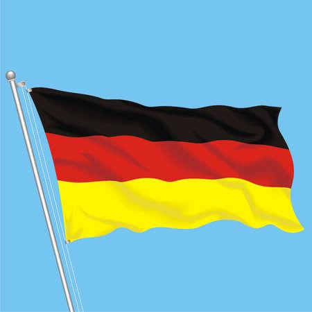 Developing flag of Germany Illustration