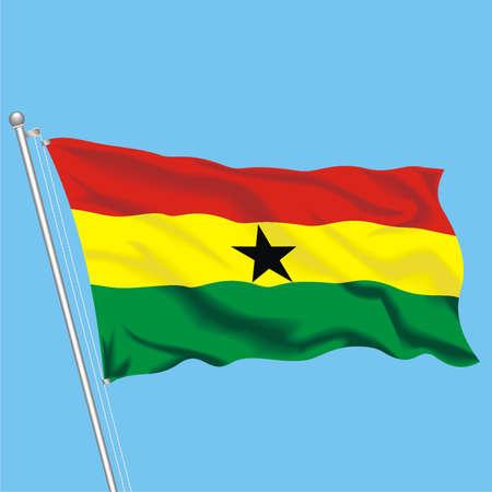 Developing flag of Ghana Illustration