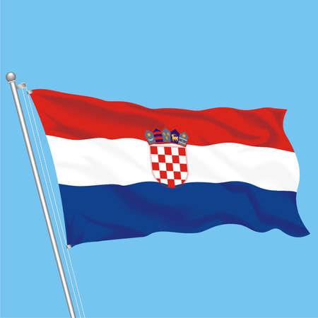 Developing flag of Groatia Stock Vector - 79581524