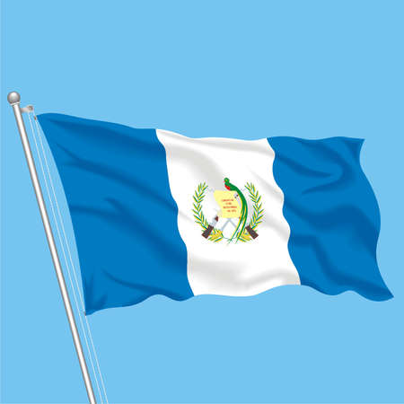 Developing flag of Guatemala Stock Vector - 79581733