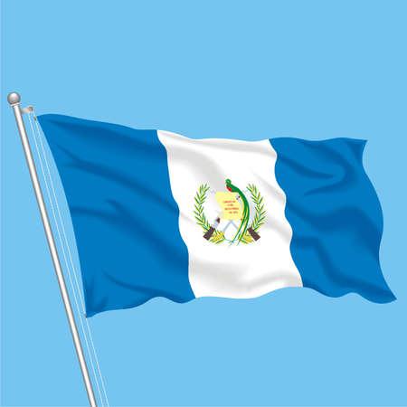 Developing flag of Guatemala Illustration