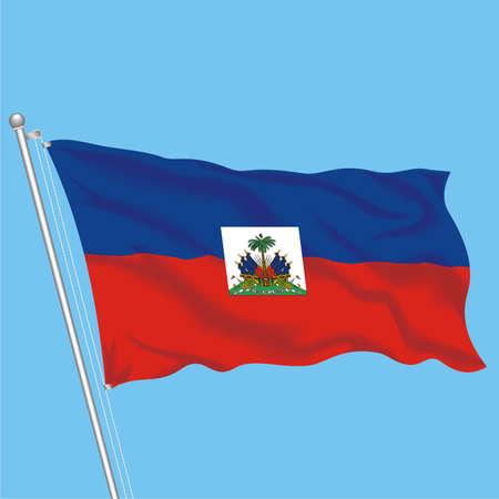 Developing flag of Haiti