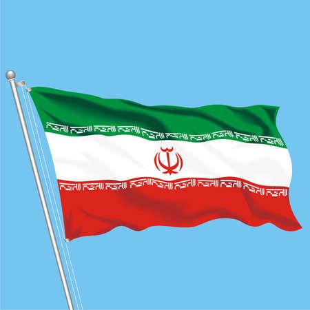 Developing flag of Iran Illustration