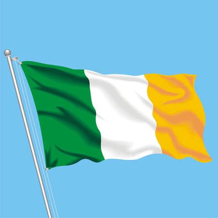 Developing flag of Ireland
