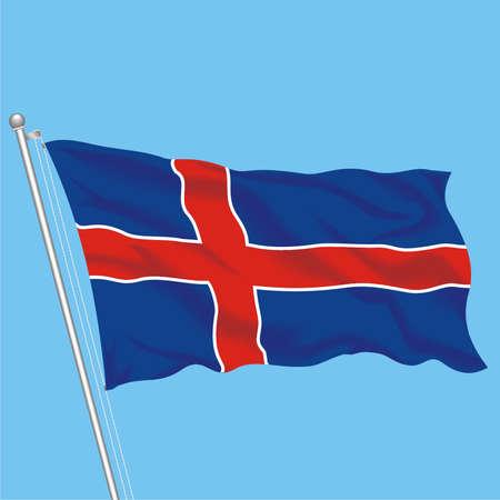 Developing flag of Iseland