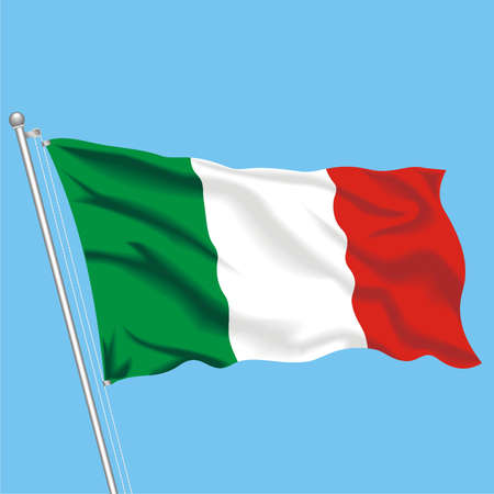 Developing flag of Italy