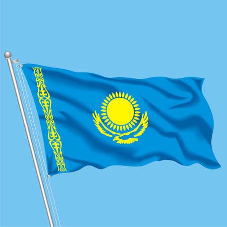 Developing flag of Kazakhstan Illustration