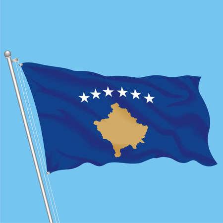 Developing flag of Kosovo