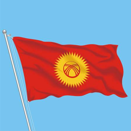 Developing flag of Kyrgyzstan