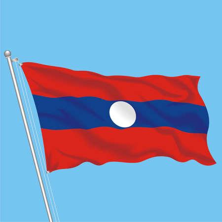 Developing flag of Laos