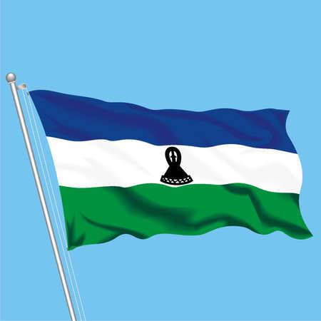 Developing flag of Lesotho Illustration