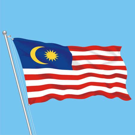 Developing flag of Malaysia Illustration