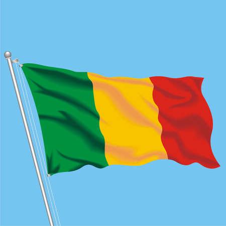 Developing flag of Mali Illustration