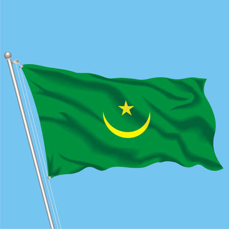 Developing flag of Mauritania Illustration