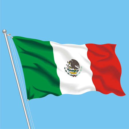 Developing flag of Mexico Illustration