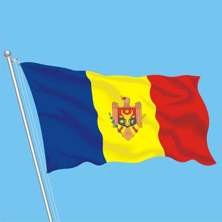 Developing flag of Moldova Illustration