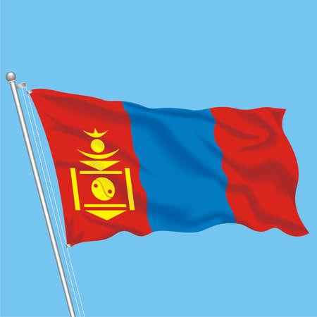 Developing flag of Mongolia Illustration