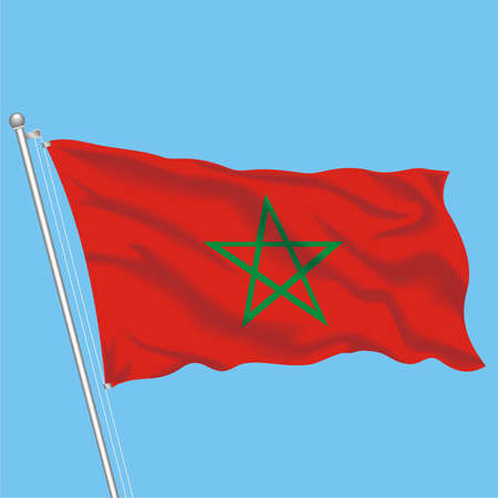 Developing flag of Morocco