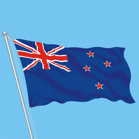 Developing flag of New Zealand Stock Vector - 79575992