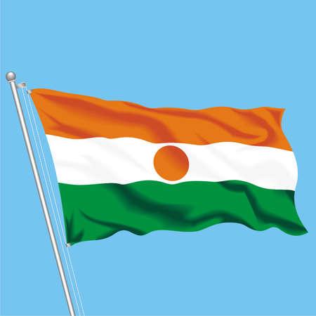 Developing flag of Niger Illustration