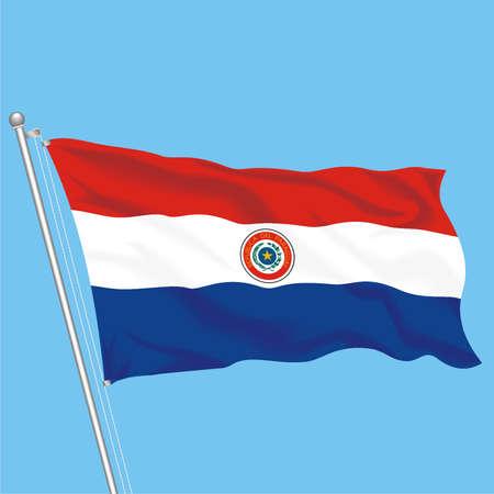 Developing flag of Paraguay Illustration