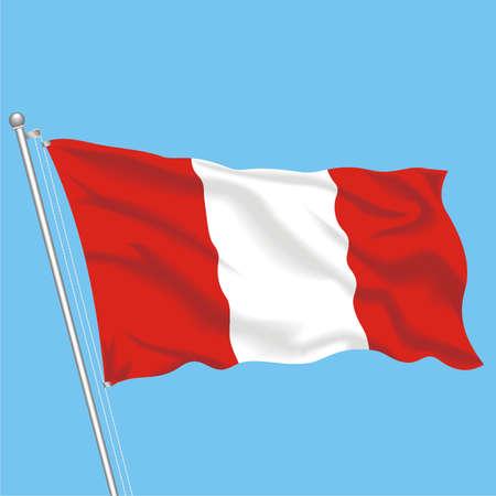 Developing flag of Peru Illustration