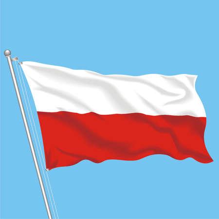 Developing flag of Poland Illustration