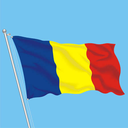 Developing flag of Romania