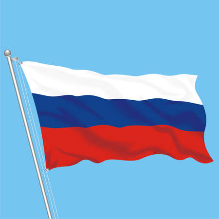 Developing flag of Russia Stock Vector - 79576021