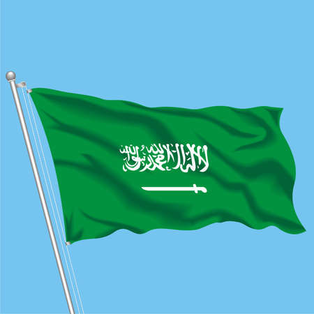 Developing flag of Saudi Arabia Stock Vector - 79576051