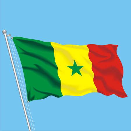 Developing flag of Senegal Illustration