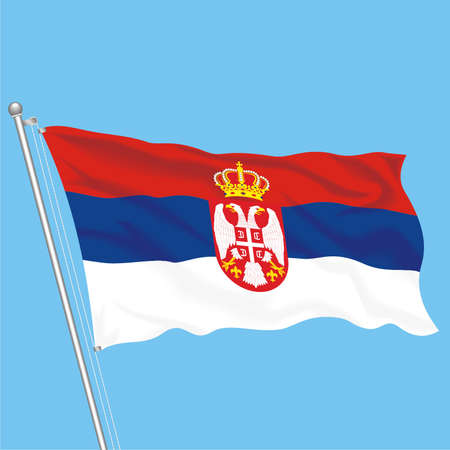 Developing flag of Serbia