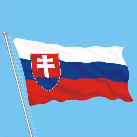 Developing flag of Slovakia Illustration
