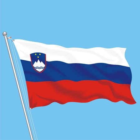 flagstaff: Developing flag of Slovenia