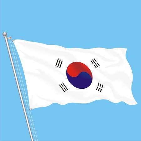 Developing flag of South Korea