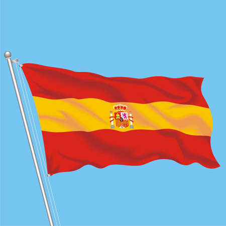 Developing flag of Spain
