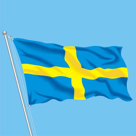 Developing flag of Sweden Illustration