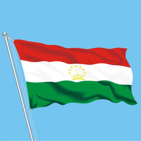 Developing flag of Tajikistan Stock Vector - 79579590