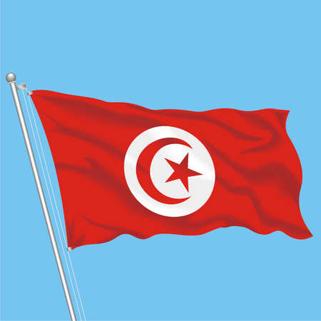 Developing flag of Tunisia Illustration
