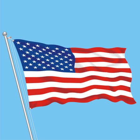 Developing flag of USA